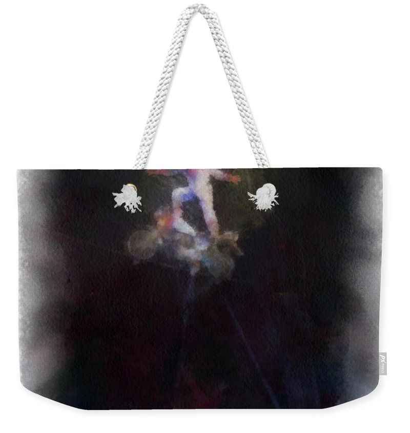 Circus Weekender Tote Bag featuring the photograph Big Top Circus Highwire Motorcycle Act Photo Art by Thomas Woolworth