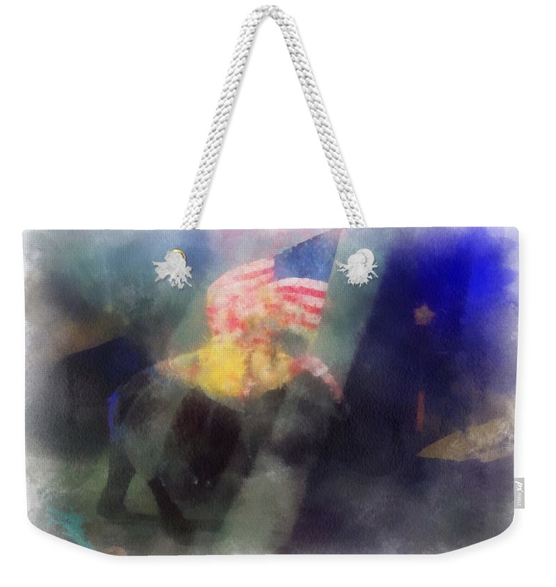 Circus Weekender Tote Bag featuring the photograph Big Top Elephant Riding Photo Art by Thomas Woolworth