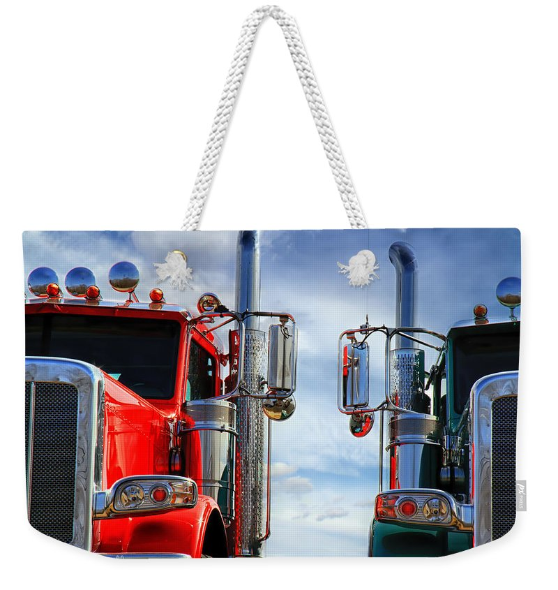 Transportation Weekender Tote Bag featuring the photograph Big Trucks by Bob Orsillo