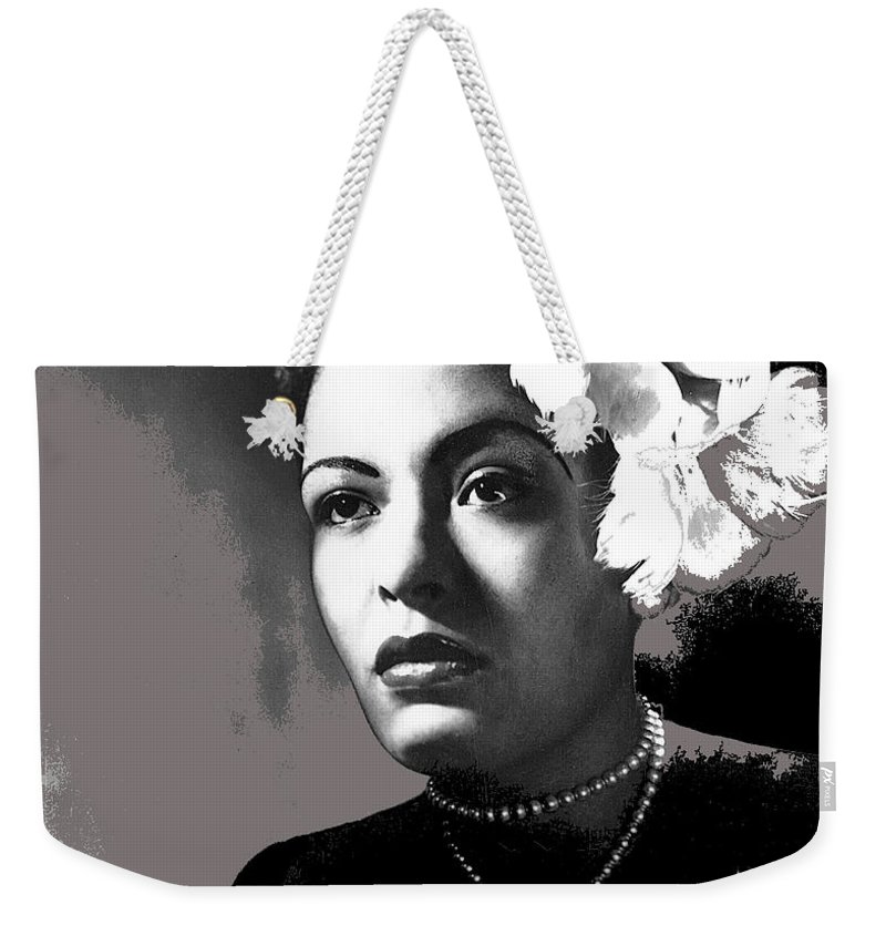 Billie Holiday Singer Song Writer No Date Weekender Tote Bag featuring the photograph Billie Holiday Singer Song Writer No Date-2014 by David Lee Guss