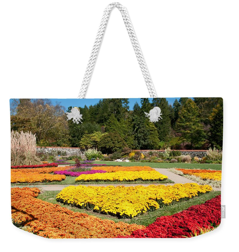 Fall Weekender Tote Bag featuring the photograph Biltmore Gardens by Lynn Bauer