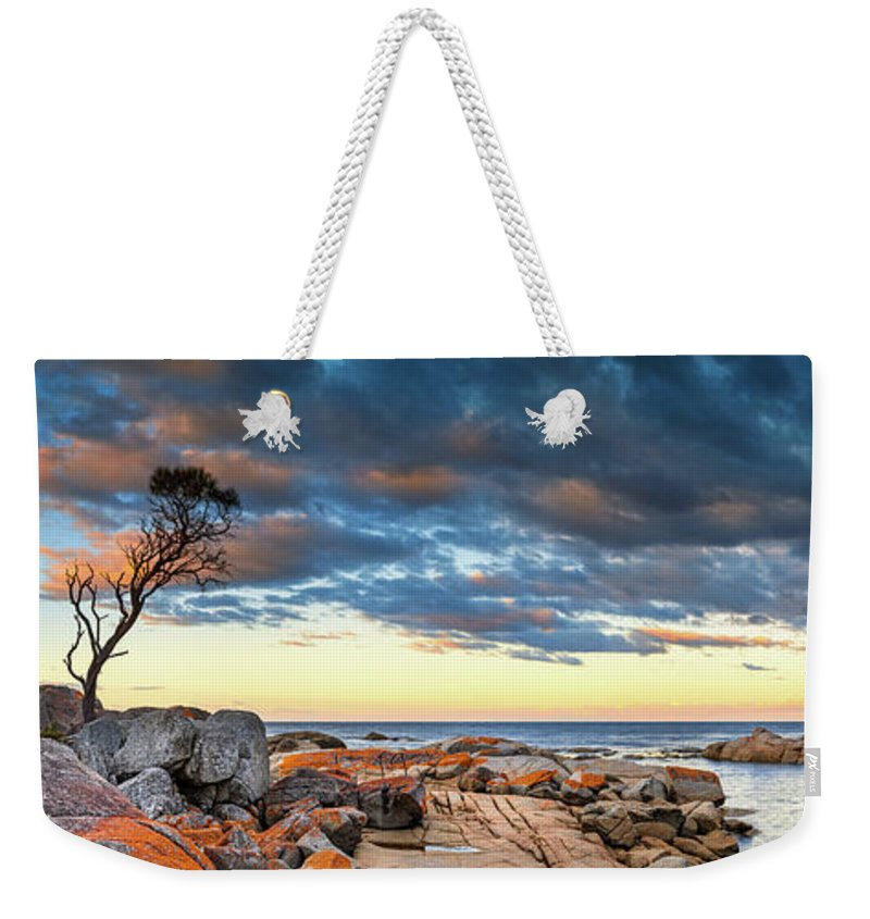 Scenics Weekender Tote Bag featuring the photograph Binalong Bay by Bruce Hood