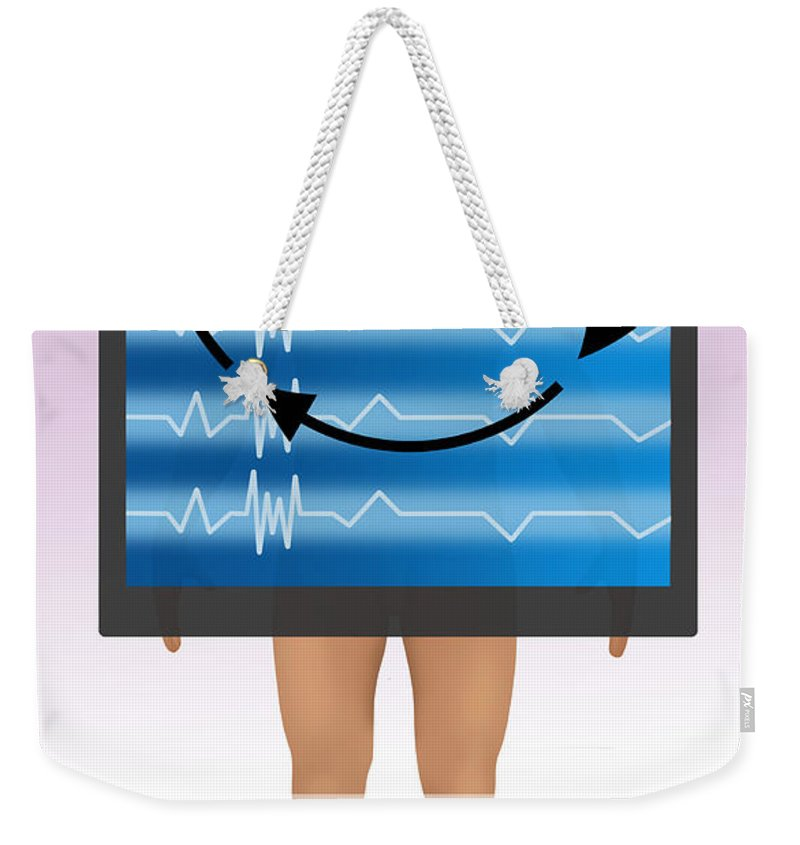 Medical Weekender Tote Bag featuring the photograph Biofeedback Therapy by Gwen Shockey