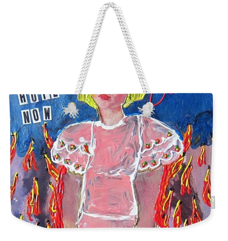 Myself Weekender Tote Bag featuring the painting Bipolar by Lisa Piper