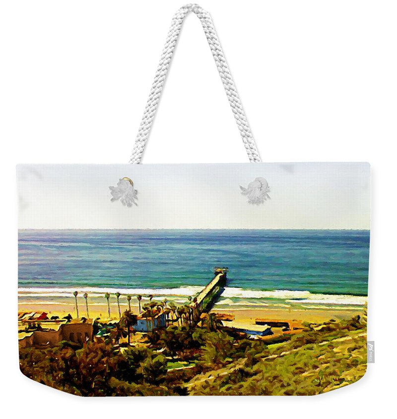 La Jolla Weekender Tote Bag featuring the photograph Birch Aquarium At La Jolla by Glenn McCarthy Art and Photography