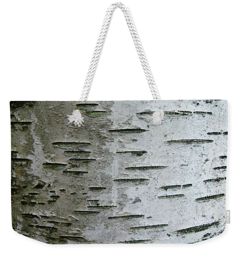 Birch Bark Weekender Tote Bag featuring the photograph Birch Bark by Janell R Colburn