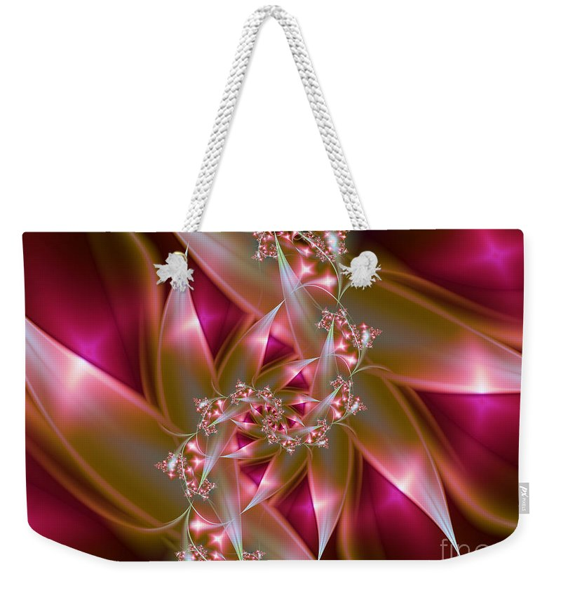 Fractal Weekender Tote Bag featuring the digital art Bird Of Paradise by Lena Auxier