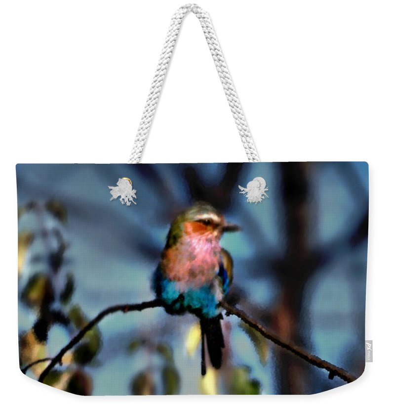 Nature Weekender Tote Bag featuring the photograph Bird On A Limb by Steve Karol