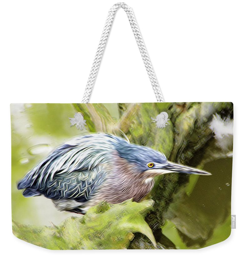 Bird Weekender Tote Bag featuring the photograph Bird Whirl2 by James Ekstrom