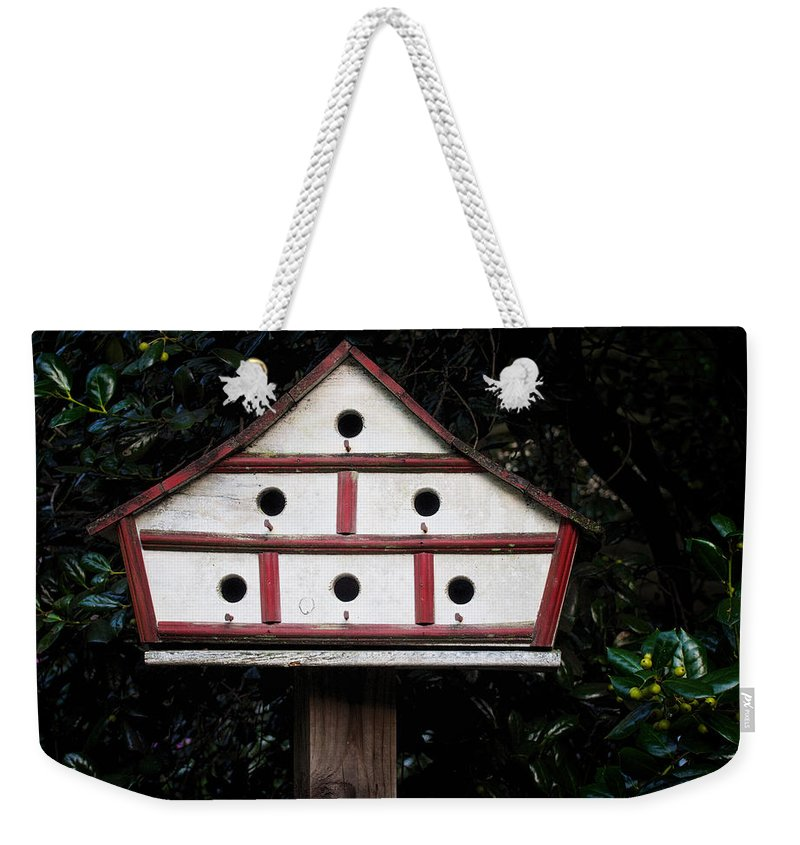 Animal Weekender Tote Bag featuring the photograph Birdhouse by David Kay