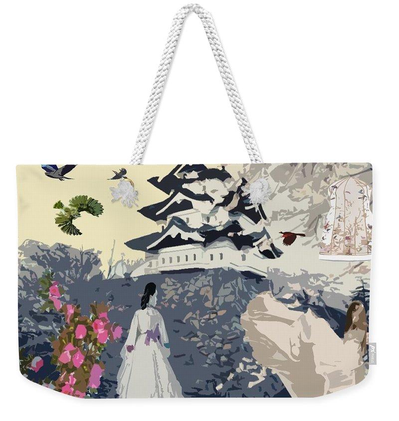 Bird's Eye View Weekender Tote Bag featuring the digital art Bird's Eye View by Catherine Lott
