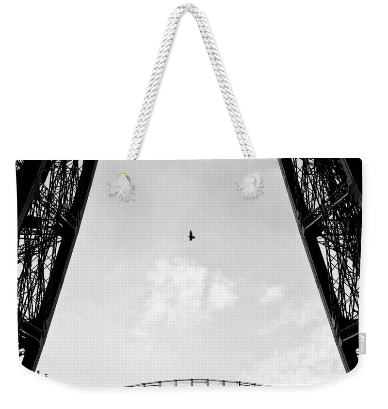 Eiffel Tower Weekender Tote Bag featuring the photograph Birds-eye View by Dave Bowman