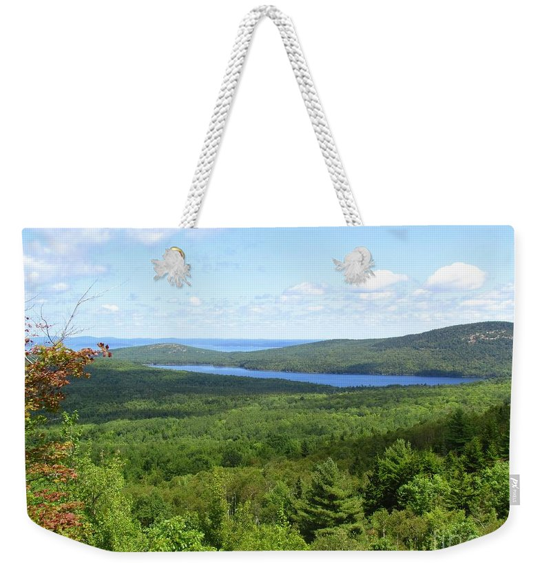 Water Weekender Tote Bag featuring the photograph Bird's Eye View Of Eagle Lake by Elizabeth Dow