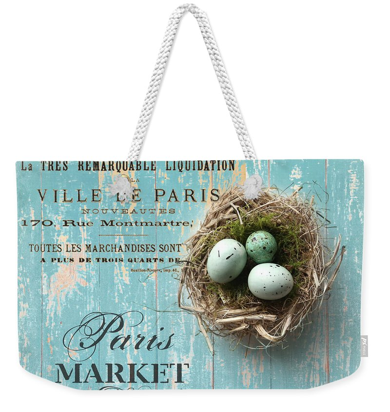 Bird Nest Weekender Tote Bag featuring the photograph Birds Nest by Sylvia Cook