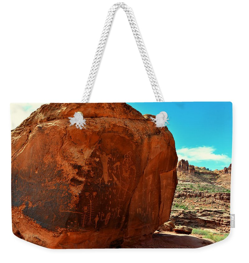 Birthing Rock Weekender Tote Bag featuring the photograph Birthing Rock by David Lee Thompson