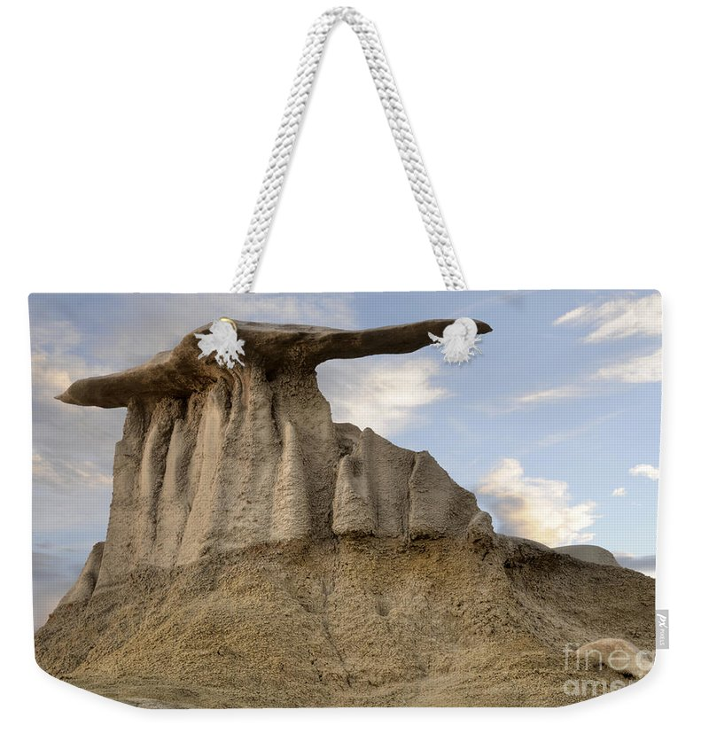 Textures Weekender Tote Bag featuring the photograph Bisti De-na-zin Wing by Vivian Christopher