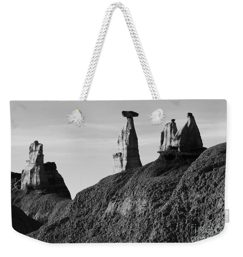 Textures Weekender Tote Bag featuring the photograph Bisti Land Form 1 by Vivian Christopher