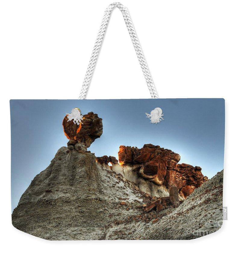 Textures Weekender Tote Bag featuring the photograph Bisti Land Form 3 by Vivian Christopher