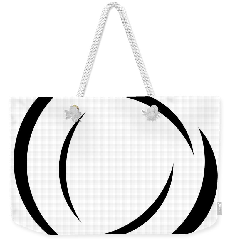 Black And White Weekender Tote Bag featuring the digital art Black And White - 105 by Ely Arsha