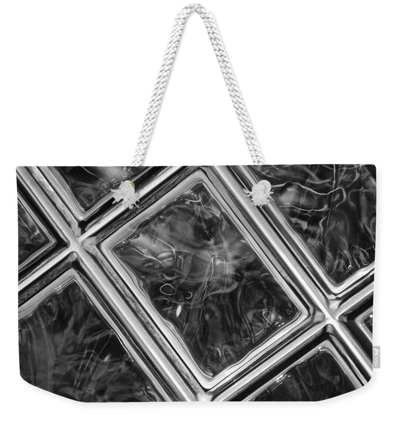 Abstract Weekender Tote Bag featuring the photograph Black And White Abstract by Frozen in Time Fine Art Photography