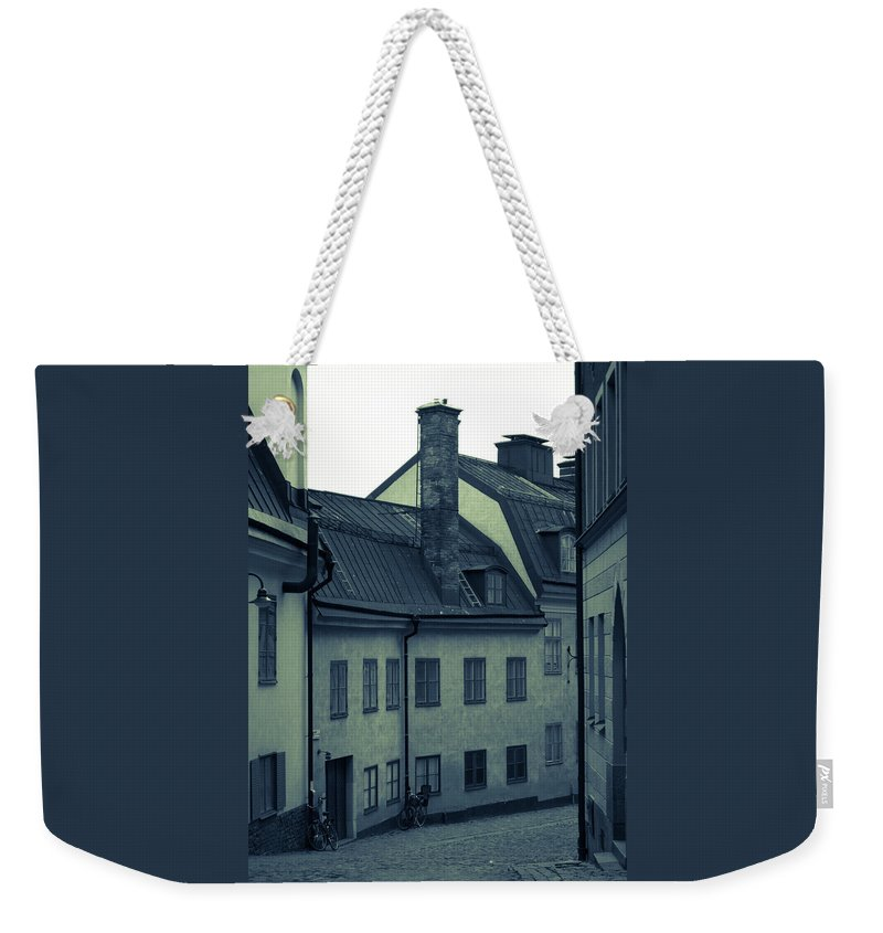 Architecture Weekender Tote Bag featuring the photograph Black And White by Jill Mitchell