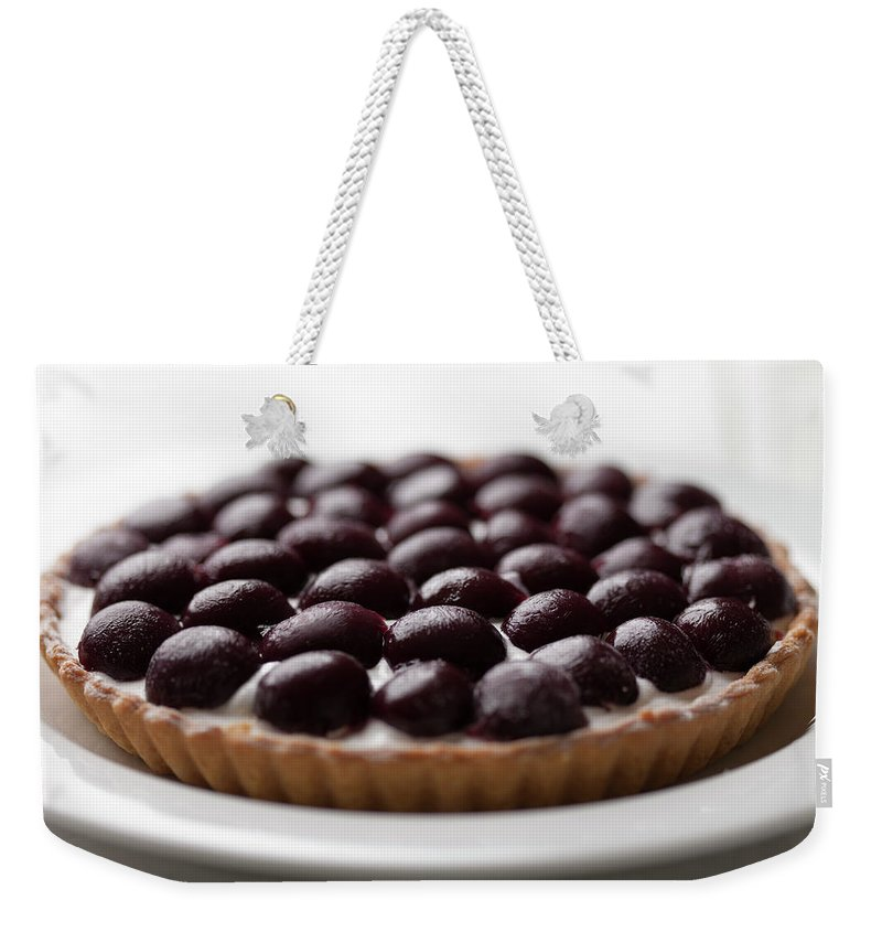 Cherry Weekender Tote Bag featuring the photograph Black Cherry Tart Studio Shot by Kazuhiro Tanda
