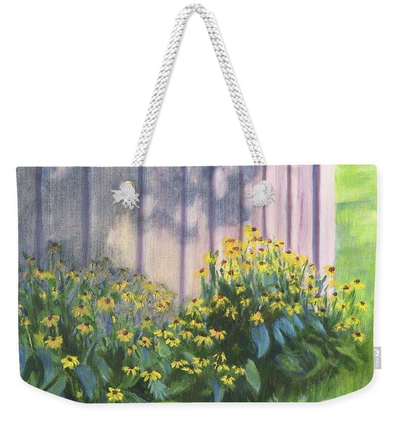 Flowers Weekender Tote Bag featuring the painting Black Eyed Susans by Deborah Butts