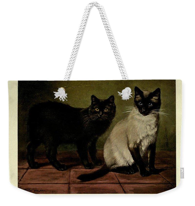 Manx Cat Weekender Tote Bags