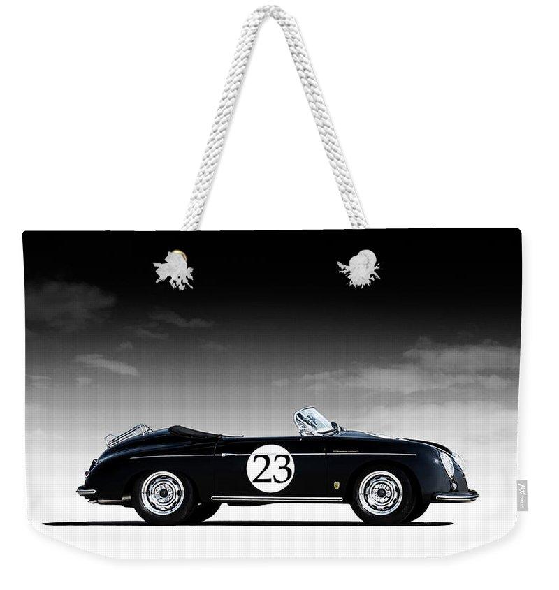 Black Weekender Tote Bag featuring the digital art Black Speedster by Douglas Pittman