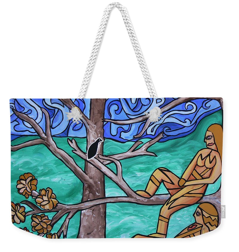Painting Weekender Tote Bag featuring the painting Blackbird Singing by Barbara St Jean