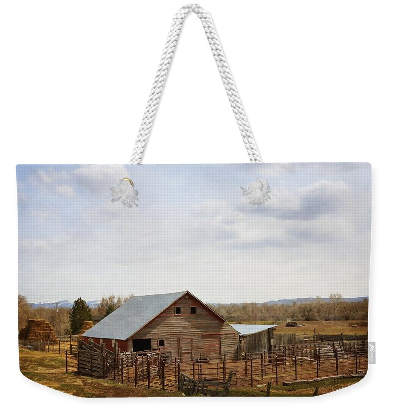 Barn Weekender Tote Bag featuring the photograph The Blackfoot Barn by Image Takers Photography LLC