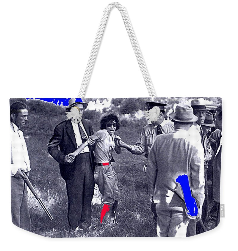 Blanche Barrow Captured Dexfield Park Missouri Color Added Unknown Photographer Weekender Tote Bag featuring the photograph Blanche Barrow Captured July 24 1933 Dexfield Park Missouri by David Lee Guss
