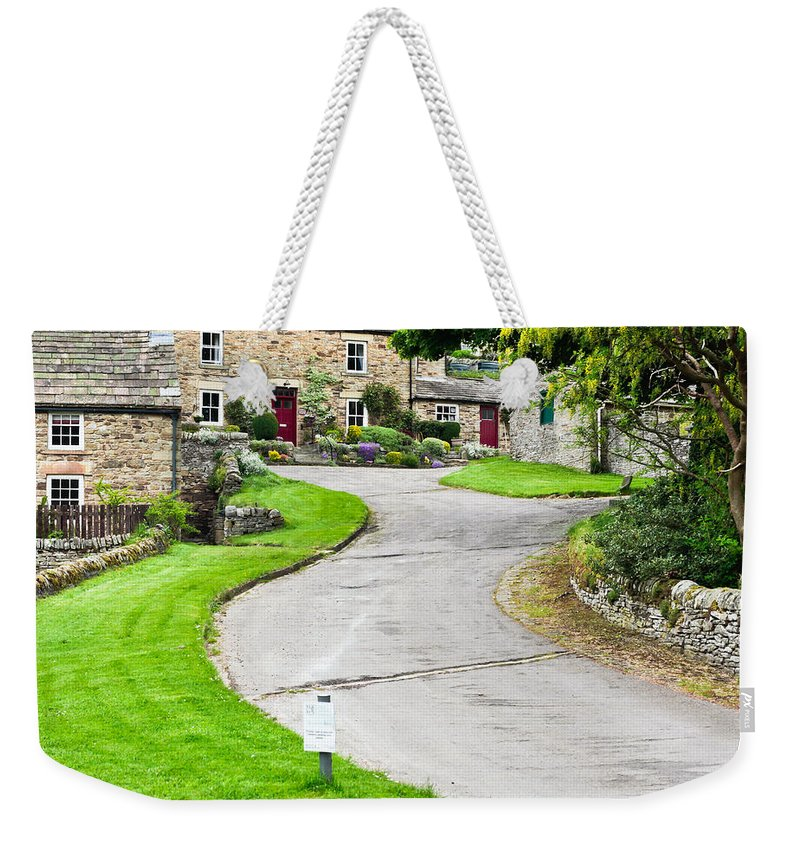 Antique Weekender Tote Bag featuring the photograph Blanchland Cottages by Tom Gowanlock