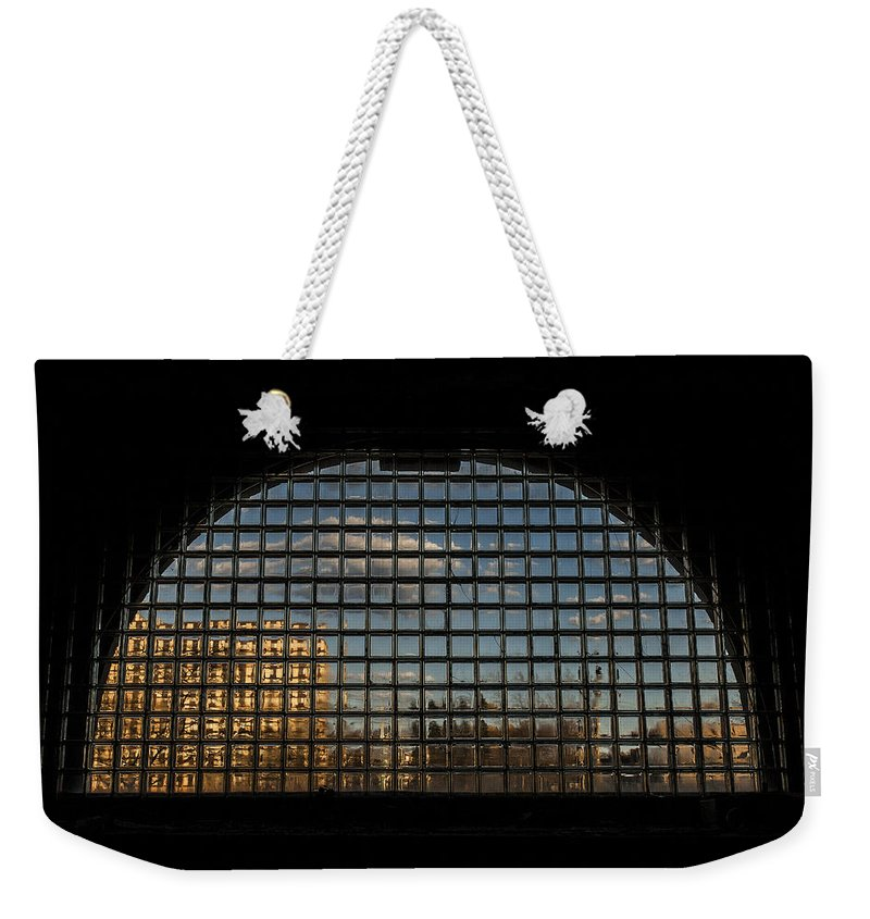 Www.cjschmit.com Weekender Tote Bag featuring the photograph Block View by CJ Schmit