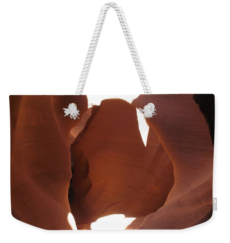 Canyon Weekender Tote Bag featuring the photograph Blocked Canyon by Christiane Schulze Art And Photography
