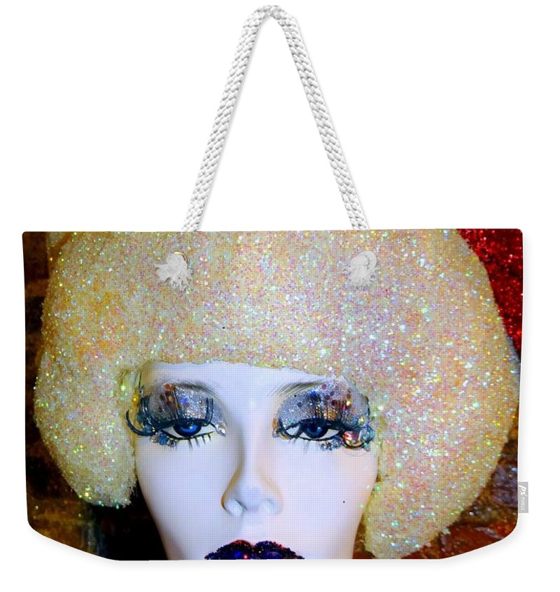Mannequins Weekender Tote Bag featuring the photograph Blonde Fro by Ed Weidman