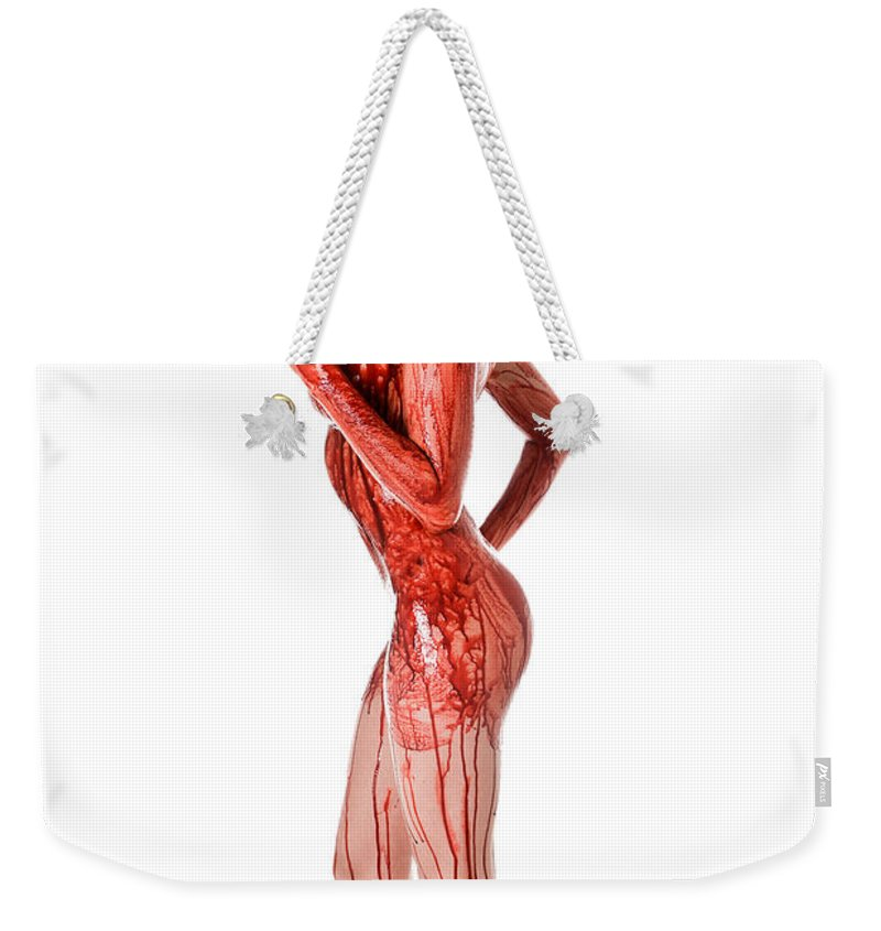 Lady Weekender Tote Bag featuring the photograph Bloody Nurse by Jt PhotoDesign