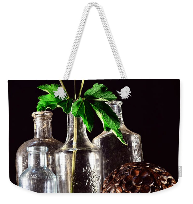 Still Life Weekender Tote Bag featuring the photograph Bloom Is Gone by Richard Ortolano