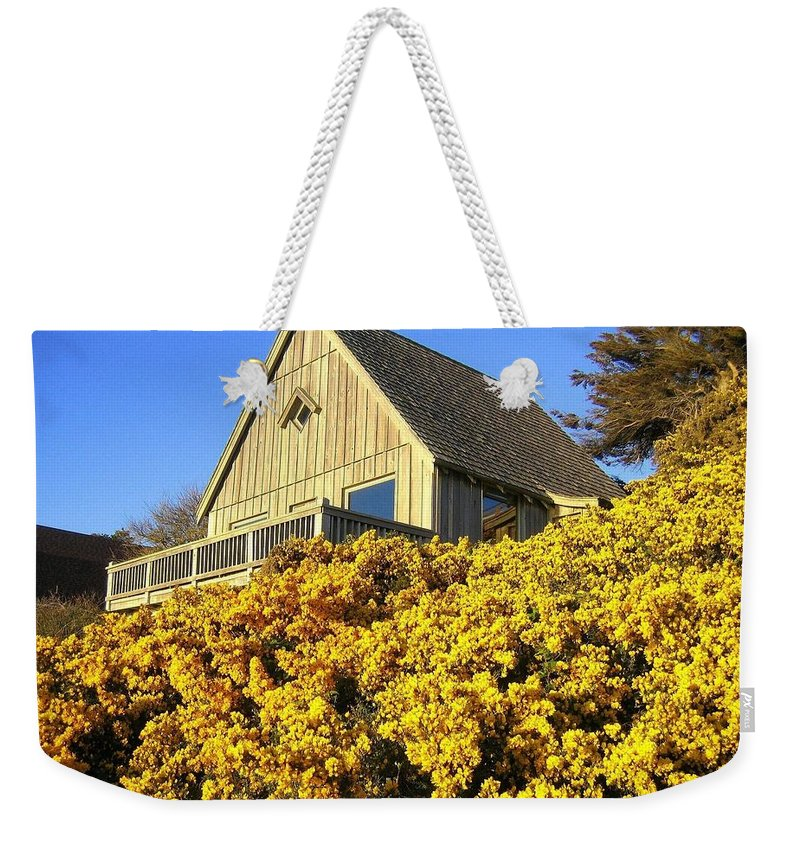 Blooming Bandon Broom Weekender Tote Bag featuring the photograph Blooming Bandon Broom by Will Borden
