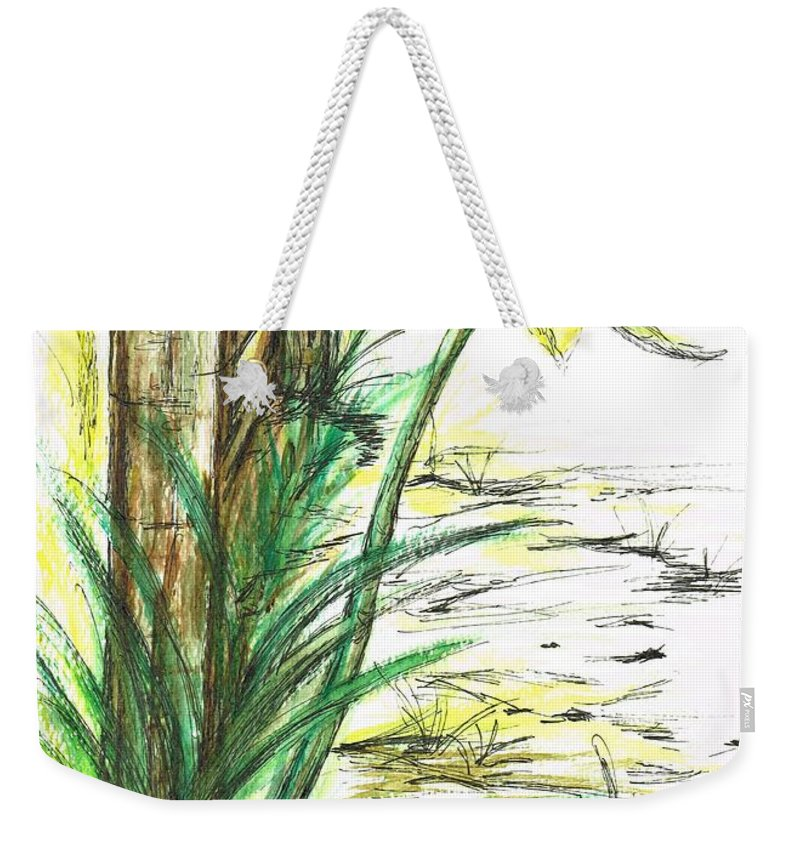 Teresa White Weekender Tote Bag featuring the painting Blooming Daffodil by Teresa White