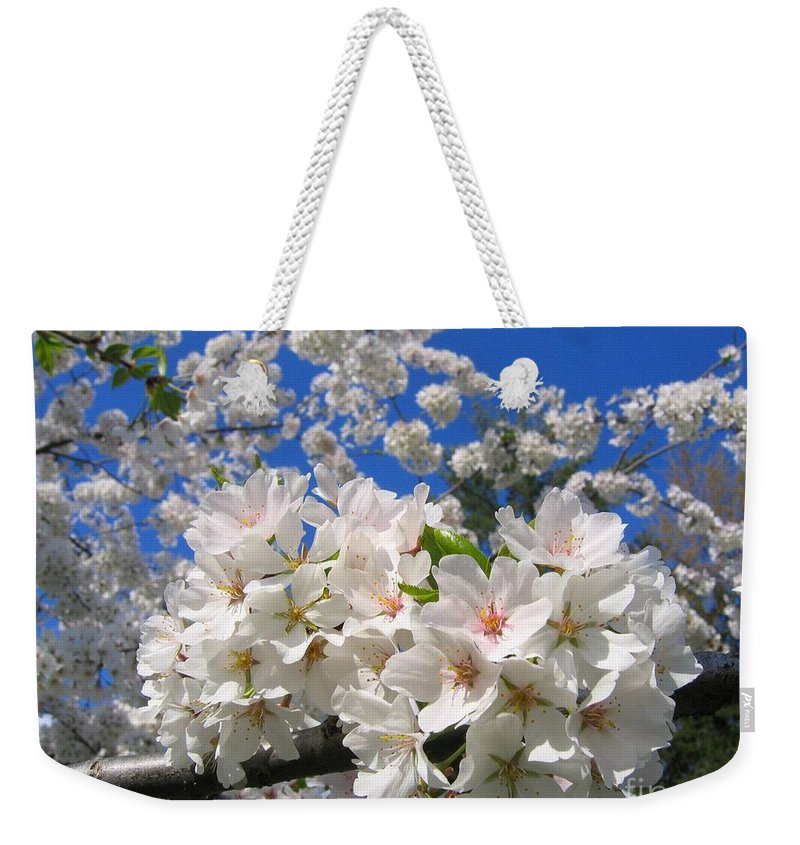 Spring Weekender Tote Bag featuring the photograph Blossoms Of Spring by Ann Horn
