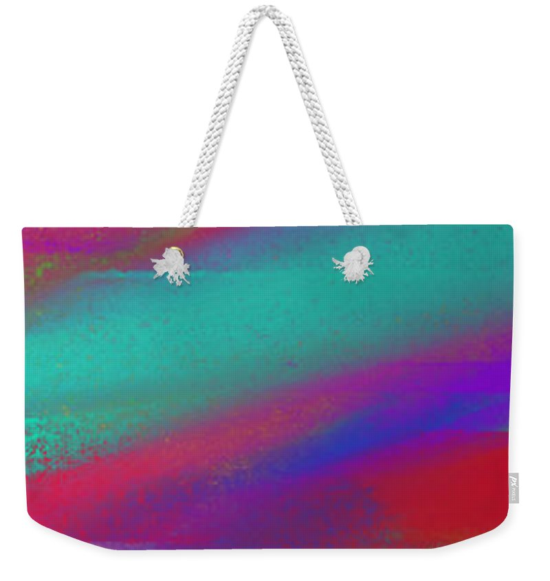 Andee Design Abstract Weekender Tote Bag featuring the digital art Blowing In The Wind Panorama by Andee Design