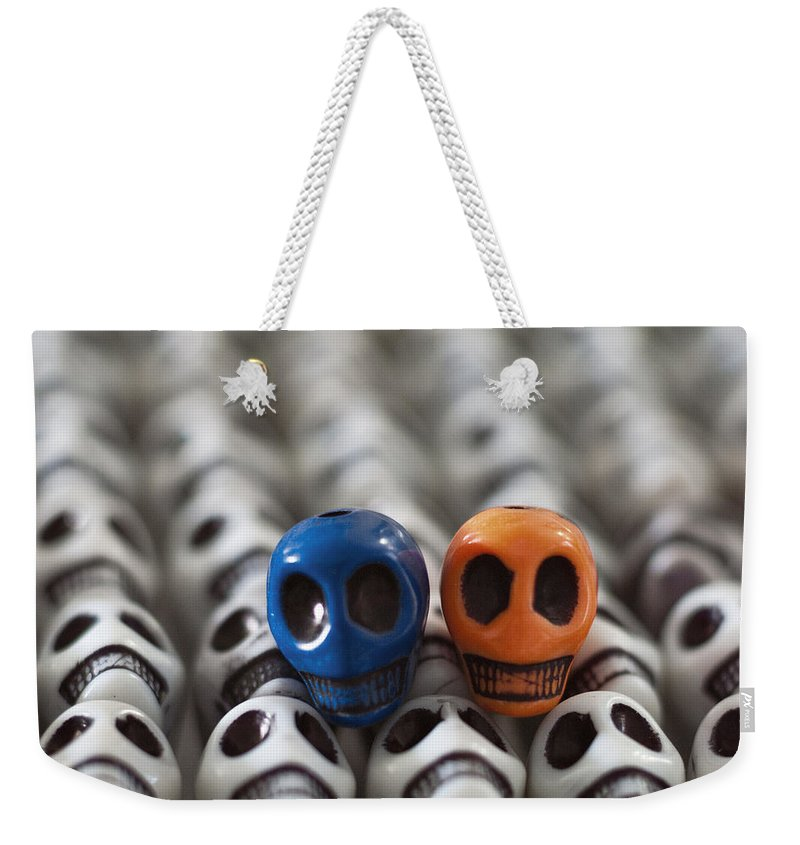 Smiles Weekender Tote Bag featuring the photograph Blue And Orange by Mike Herdering