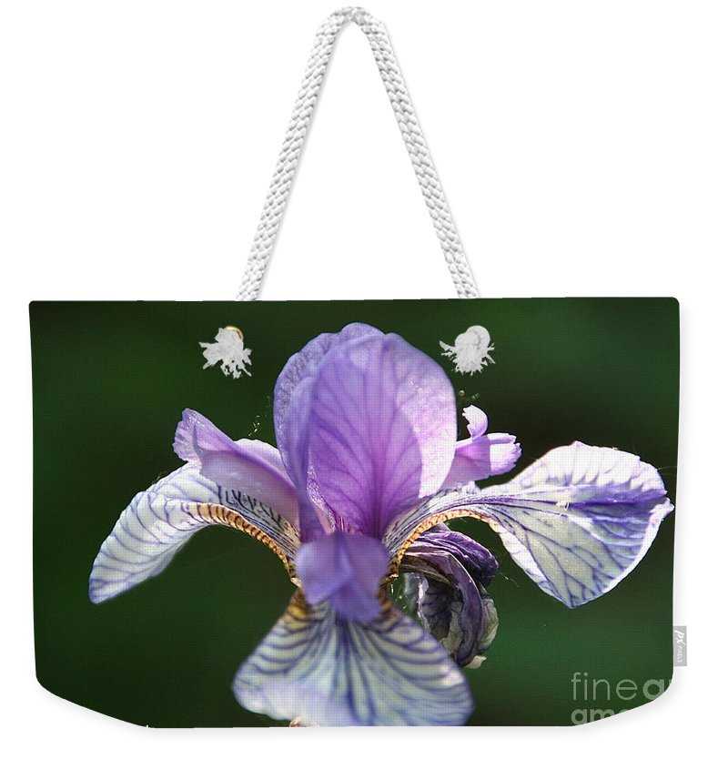 Flower Weekender Tote Bag featuring the photograph Blue Blooded by Susan Herber