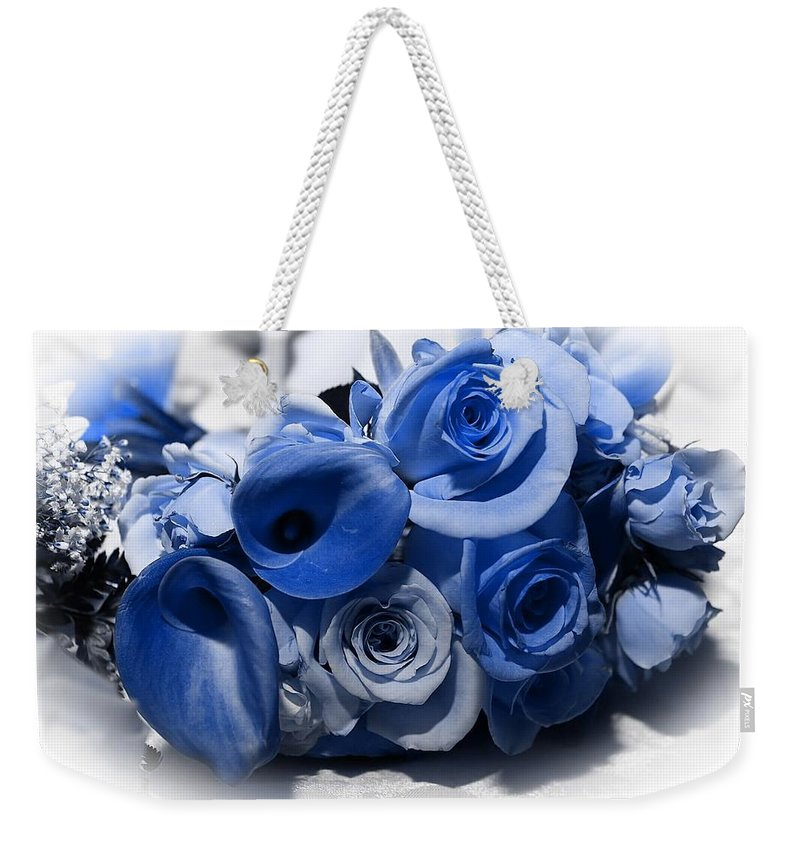 Rose Weekender Tote Bag featuring the photograph Blue Bouquet by Joyce Baldassarre