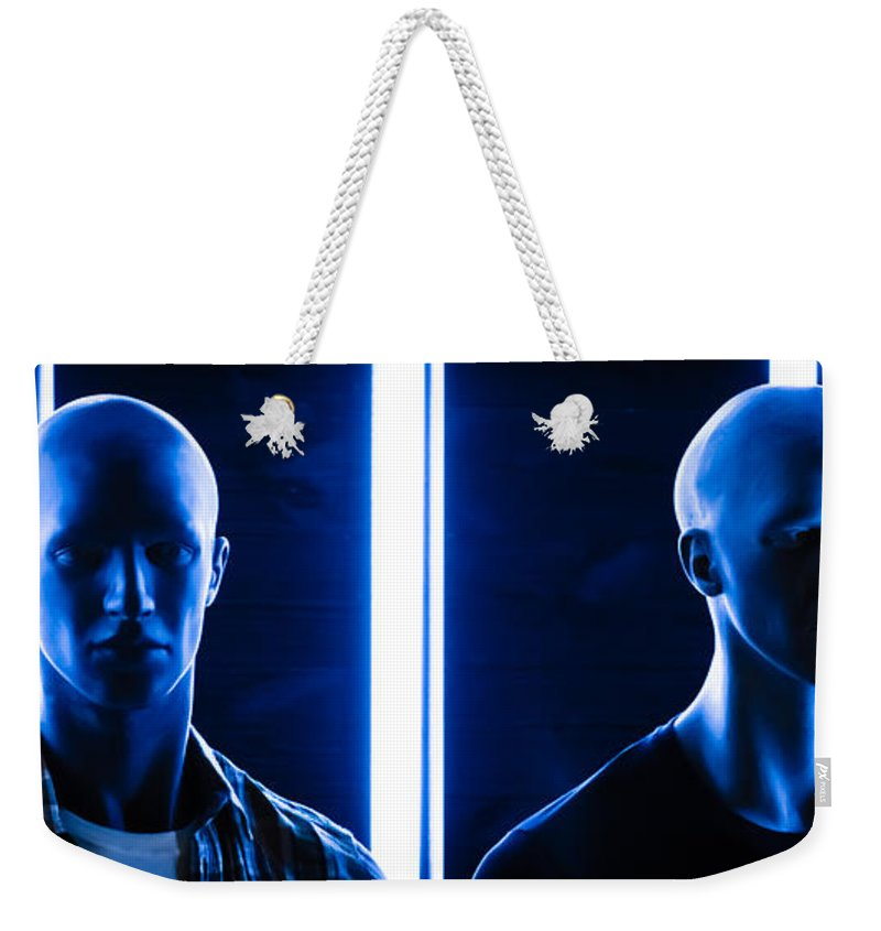 Dolls Weekender Tote Bag featuring the photograph Blue Brothers by Sotiris Filippou