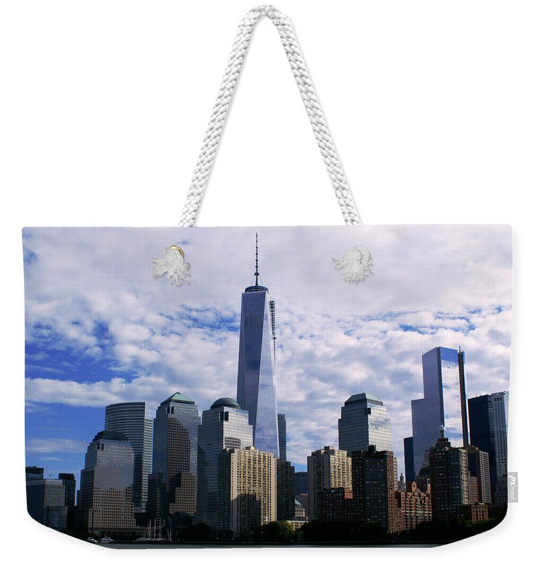 Freedom Weekender Tote Bag featuring the photograph Blue Cloud Line by Pablo Rosales