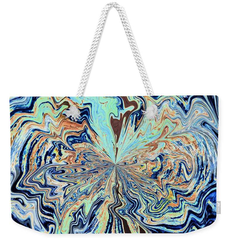 Color Weekender Tote Bag featuring the photograph Blue Crazy Lace by Tikvah's Hope