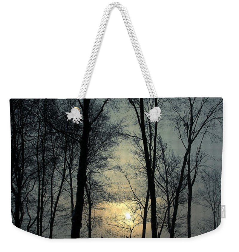 Winter Weekender Tote Bag featuring the photograph Blue Daybreak by Karol Livote