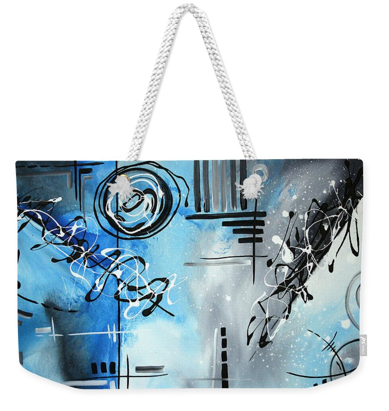 Wall Weekender Tote Bag featuring the painting Blue Divinity By Madart by Megan Duncanson